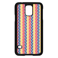 Colorful Chevron Retro Pattern Samsung Galaxy S5 Case (Black)