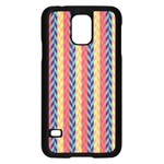 Colorful Chevron Retro Pattern Samsung Galaxy S5 Case (Black) Front