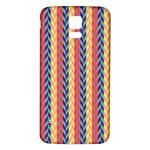 Colorful Chevron Retro Pattern Samsung Galaxy S5 Back Case (White) Front