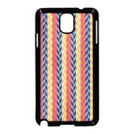 Colorful Chevron Retro Pattern Samsung Galaxy Note 3 Neo Hardshell Case (Black) Front
