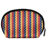Colorful Chevron Retro Pattern Accessory Pouches (Large)  Back