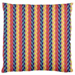 Colorful Chevron Retro Pattern Large Flano Cushion Case (One Side) Front