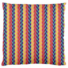 Colorful Chevron Retro Pattern Large Flano Cushion Case (two Sides)