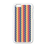 Colorful Chevron Retro Pattern Apple iPhone 6/6S White Enamel Case Front
