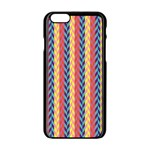 Colorful Chevron Retro Pattern Apple iPhone 6/6S Black Enamel Case Front
