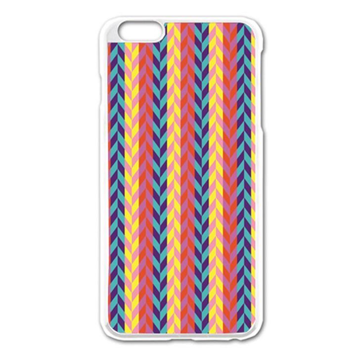 Colorful Chevron Retro Pattern Apple iPhone 6 Plus/6S Plus Enamel White Case