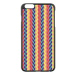 Colorful Chevron Retro Pattern Apple iPhone 6 Plus/6S Plus Black Enamel Case Front