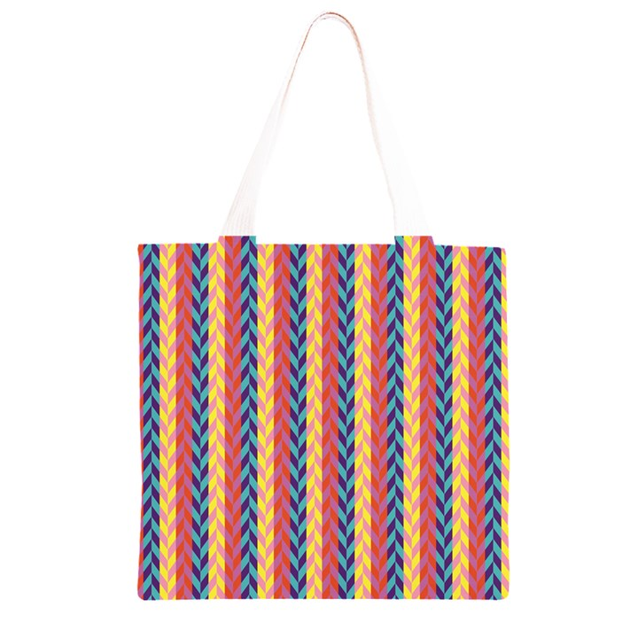 Colorful Chevron Retro Pattern Grocery Light Tote Bag