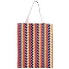Colorful Chevron Retro Pattern Classic Light Tote Bag