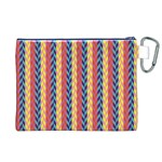 Colorful Chevron Retro Pattern Canvas Cosmetic Bag (XL) Back