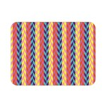 Colorful Chevron Retro Pattern Double Sided Flano Blanket (Mini)  35 x27 Blanket Front