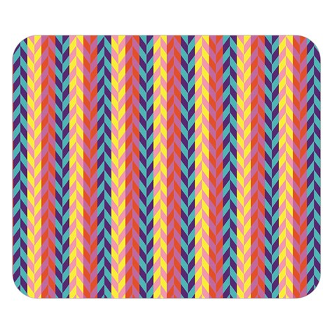 Colorful Chevron Retro Pattern Double Sided Flano Blanket (Small)