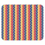 Colorful Chevron Retro Pattern Double Sided Flano Blanket (Small)  50 x40 Blanket Back