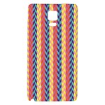 Colorful Chevron Retro Pattern Galaxy Note 4 Back Case Front