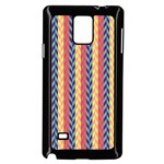 Colorful Chevron Retro Pattern Samsung Galaxy Note 4 Case (Black) Front