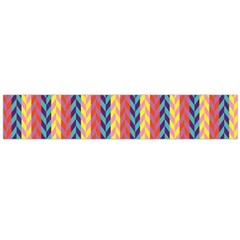 Colorful Chevron Retro Pattern Flano Scarf (Large)