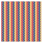 Colorful Chevron Retro Pattern Large Satin Scarf (Square) Front