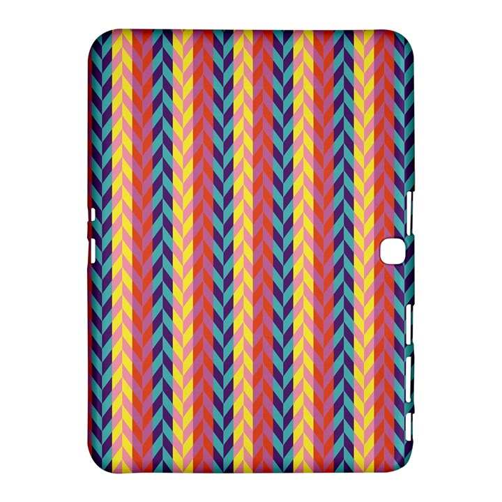 Colorful Chevron Retro Pattern Samsung Galaxy Tab 4 (10.1 ) Hardshell Case