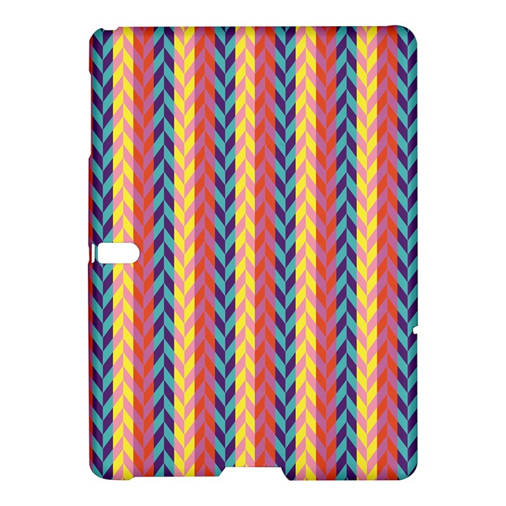 Colorful Chevron Retro Pattern Samsung Galaxy Tab S (10.5 ) Hardshell Case