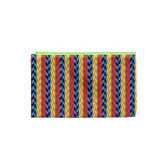 Colorful Chevron Retro Pattern Cosmetic Bag (xs)