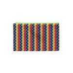 Colorful Chevron Retro Pattern Cosmetic Bag (XS) Front