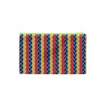 Colorful Chevron Retro Pattern Cosmetic Bag (XS) Back
