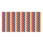 Colorful Chevron Retro Pattern Satin Shawl Front