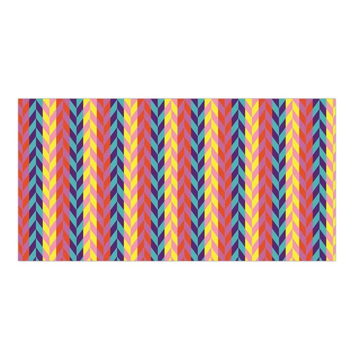 Colorful Chevron Retro Pattern Satin Shawl
