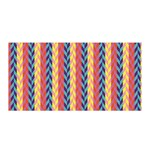 Colorful Chevron Retro Pattern Satin Wrap Front
