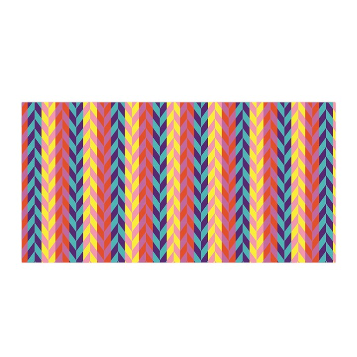 Colorful Chevron Retro Pattern Satin Wrap