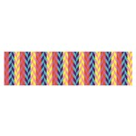Colorful Chevron Retro Pattern Satin Scarf (Oblong) Front
