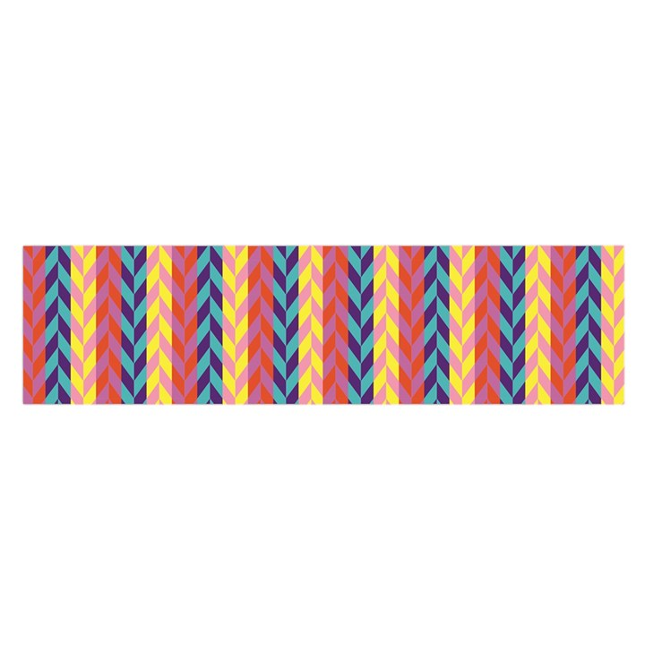 Colorful Chevron Retro Pattern Satin Scarf (Oblong)