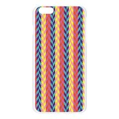Colorful Chevron Retro Pattern Apple Seamless iPhone 6 Plus/6S Plus Case (Transparent)