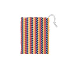 Colorful Chevron Retro Pattern Drawstring Pouches (XS)