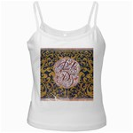 Panic! At The Disco White Spaghetti Tank Front
