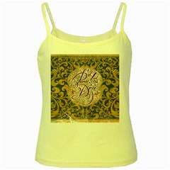 Panic! At The Disco Yellow Spaghetti Tank