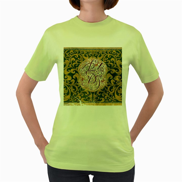 Panic! At The Disco Women s Green T-Shirt