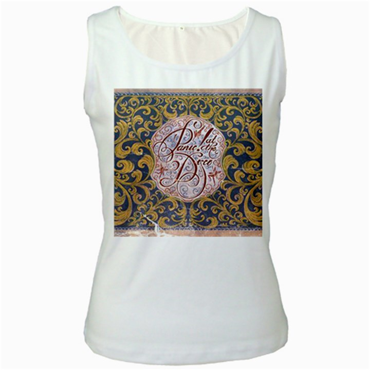 Panic! At The Disco Women s White Tank Top