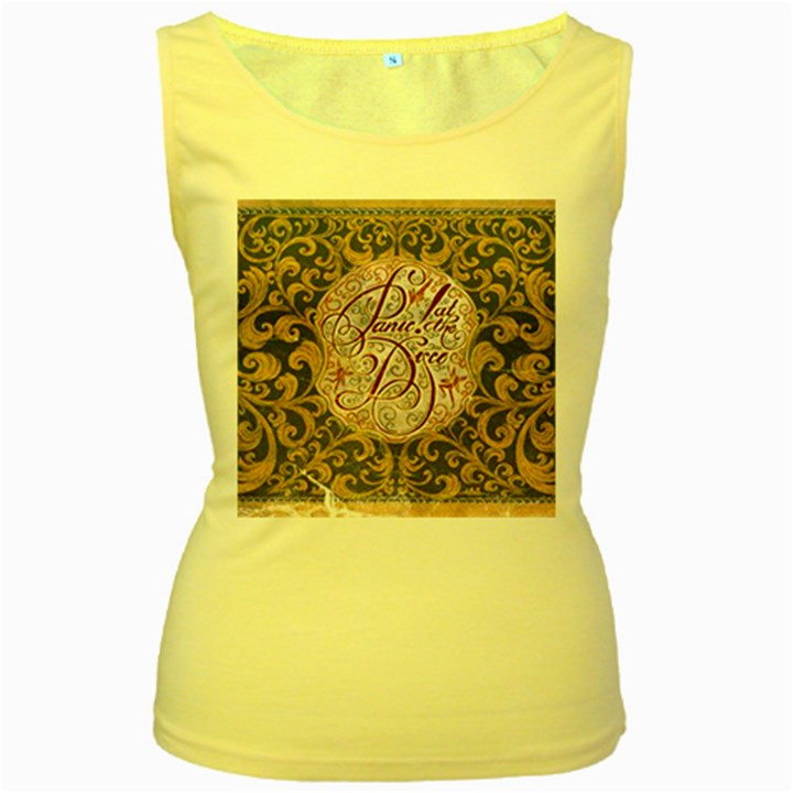 Panic! At The Disco Women s Yellow Tank Top