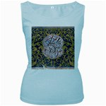 Panic! At The Disco Women s Baby Blue Tank Top Front