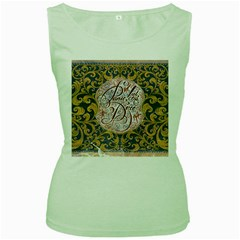Panic! At The Disco Women s Green Tank Top