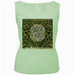 Panic! At The Disco Women s Green Tank Top Front