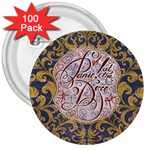 Panic! At The Disco 3  Buttons (100 pack)  Front