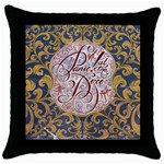 Panic! At The Disco Throw Pillow Case (Black) Front