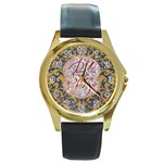Panic! At The Disco Round Gold Metal Watch Front
