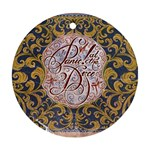 Panic! At The Disco Round Ornament (Two Sides)  Back