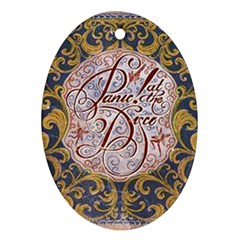 Panic! At The Disco Oval Ornament (two Sides)