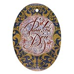 Panic! At The Disco Oval Ornament (Two Sides) Back