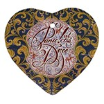 Panic! At The Disco Heart Ornament (2 Sides) Back