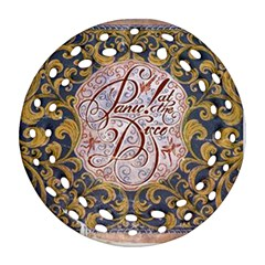 Panic! At The Disco Ornament (round Filigree)